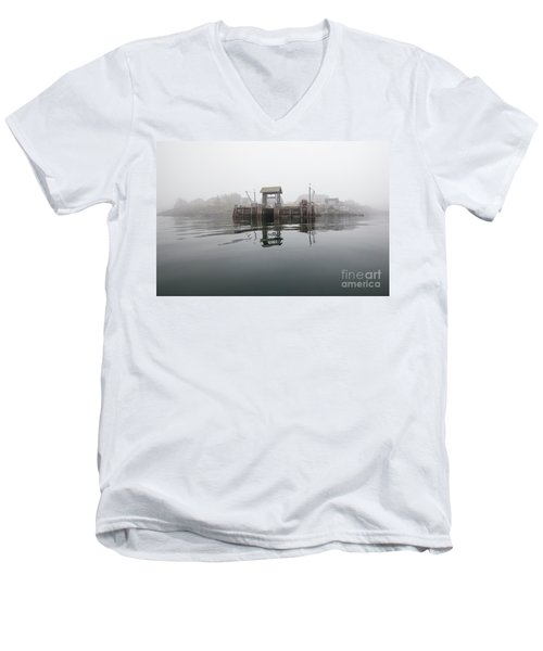 Island Boat Dock Men's V-Neck T-Shirt
