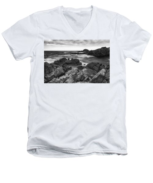 Men's V-Neck T-Shirt featuring the photograph Island by Hayato Matsumoto