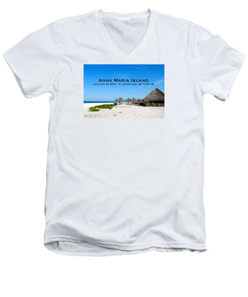 Island Time Men's V-Neck T-Shirt by Margie Amberge