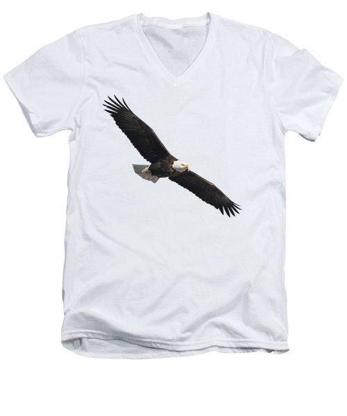 Isolated American Bald Eagle 2016-2 Men's V-Neck T-Shirt