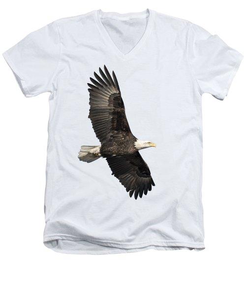 Isolated American Bald Eagle 2016-4 Men's V-Neck T-Shirt