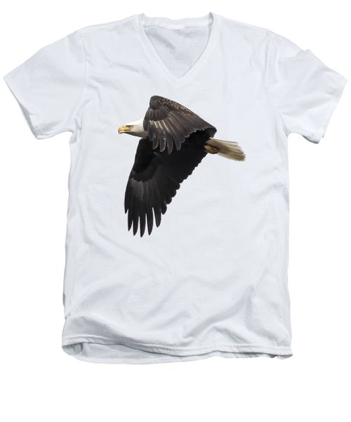 Isolated American Bald Eagle 2016-6 Men's V-Neck T-Shirt