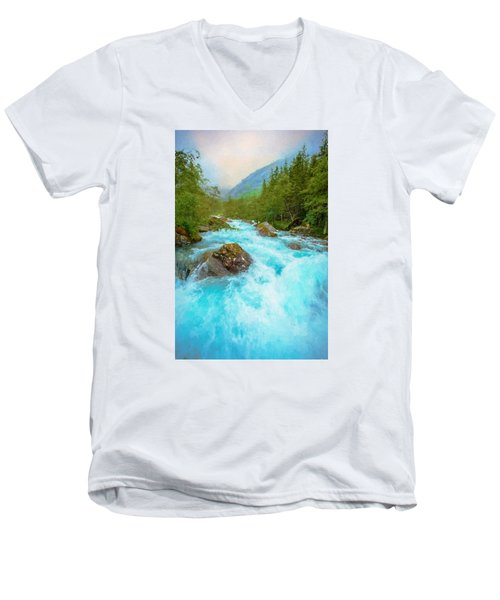 Men's V-Neck T-Shirt featuring the photograph Istra River by Rose-Maries Pictures