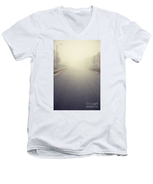 It Is Unclear What Lies Ahead Men's V-Neck T-Shirt