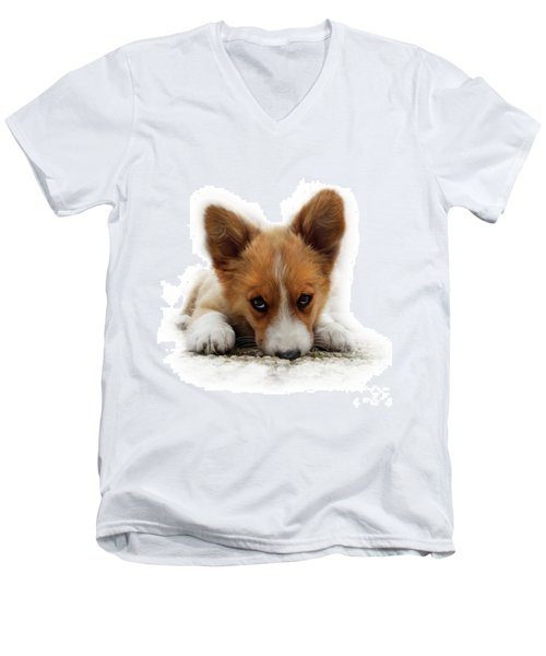 It Wasn't Me Corgi Men's V-Neck T-Shirt