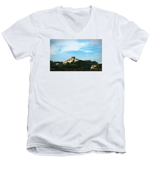 Men's V-Neck T-Shirt featuring the photograph Italian Countryside by Kathleen Scanlan