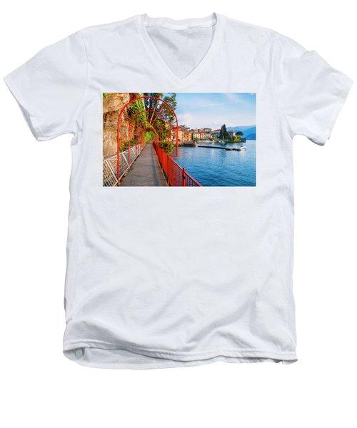 Italian Walk Of Love  Men's V-Neck T-Shirt