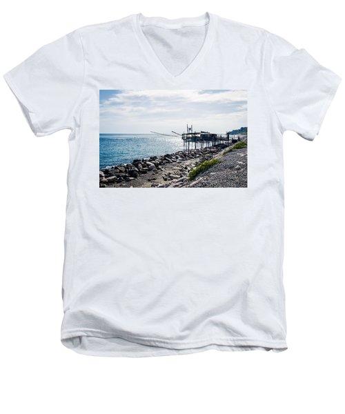 Italy - The Trabocchi Coast 2  Men's V-Neck T-Shirt