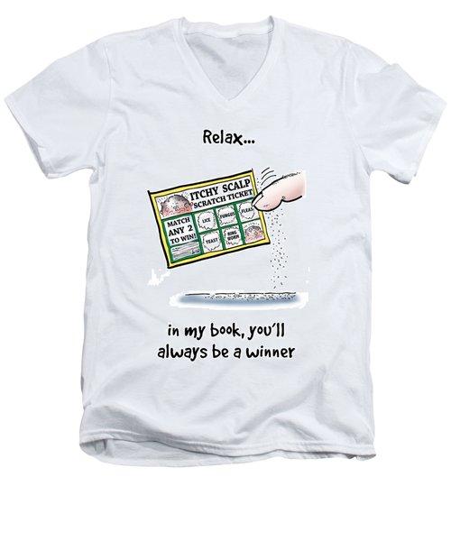 Itchy Scalp Scratch Ticket Men's V-Neck T-Shirt