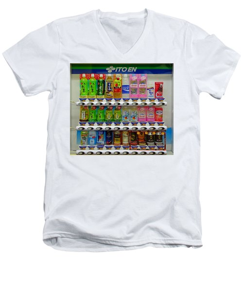 Ito En Vending Men's V-Neck T-Shirt
