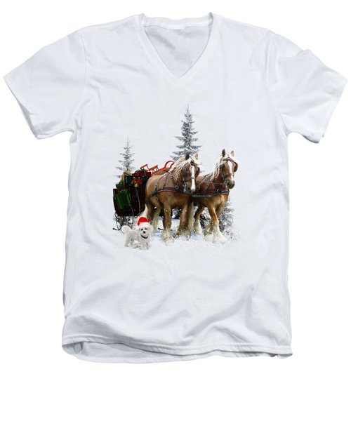A Christmas Wish Men's V-Neck T-Shirt by Shanina Conway