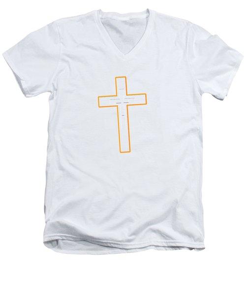 It's Never Too Late Jesus Loves You Men's V-Neck T-Shirt