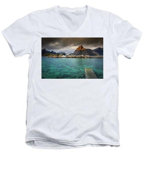 It's Not The Caribbean Men's V-Neck T-Shirt by Alex Conu