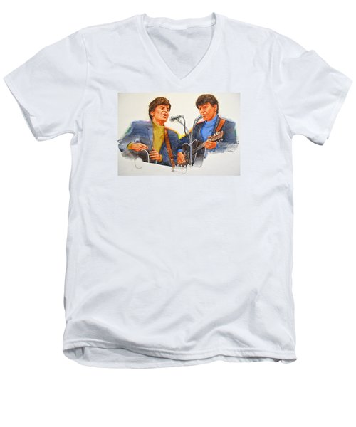 Its Rock And Roll 4  - Everly Brothers Men's V-Neck T-Shirt