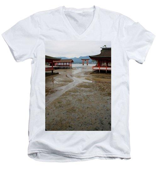 Itsukushima Shrine And Torii Gate Men's V-Neck T-Shirt