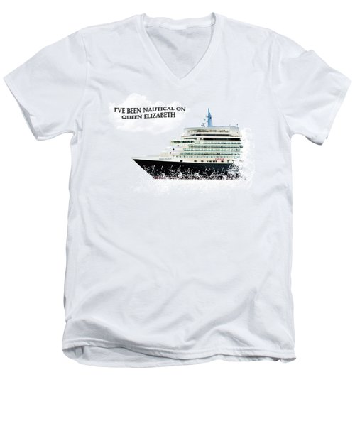 I've Been Nauticle On Queen Elizabeth On Transparent Background Men's V-Neck T-Shirt