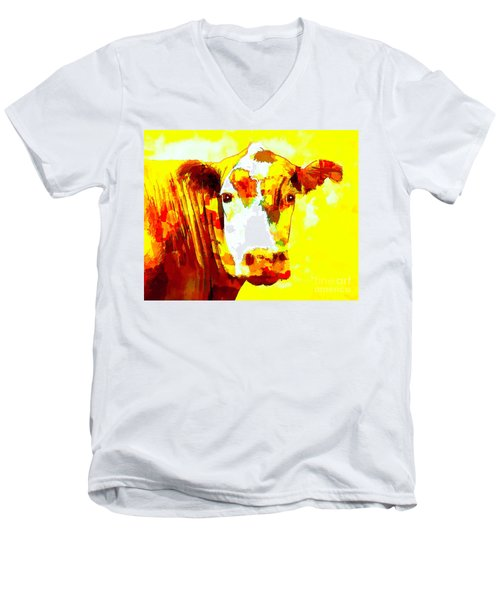 Yellow Cow Men's V-Neck T-Shirt