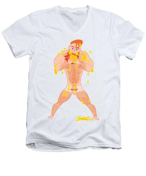 Ivo Chupando Manga Men's V-Neck T-Shirt