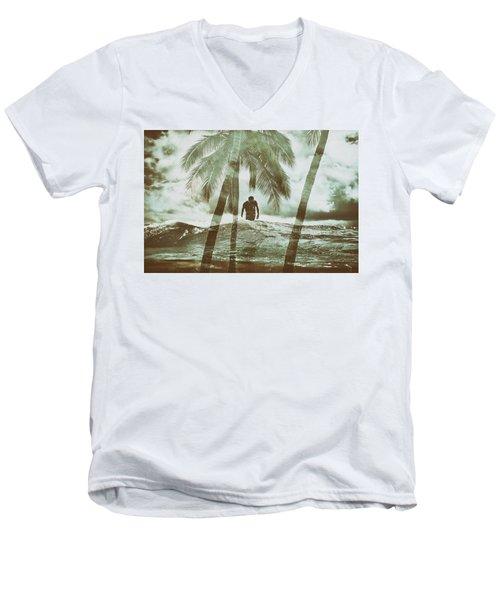 Izzy Jive And Palms Men's V-Neck T-Shirt