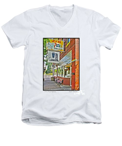 J And G Pizza Palace Men's V-Neck T-Shirt