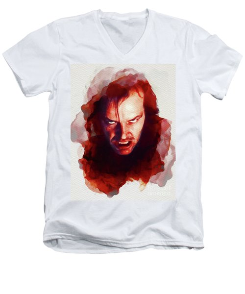 Jack Nicholson, The Shining Men's V-Neck T-Shirt