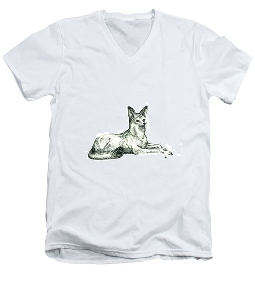 Jackal Sketch Men's V-Neck T-Shirt
