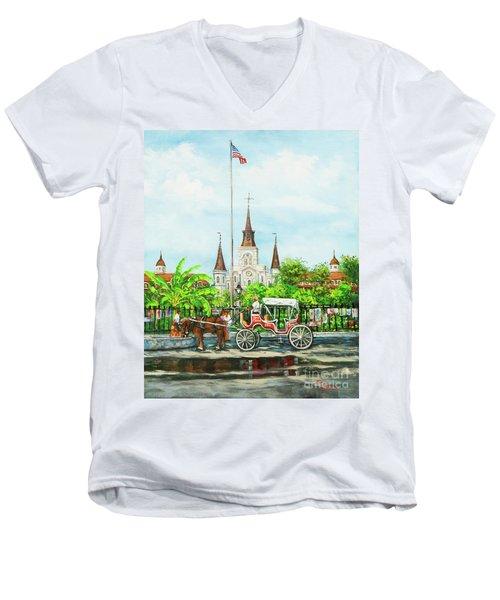 Jackson Square Carriage Men's V-Neck T-Shirt