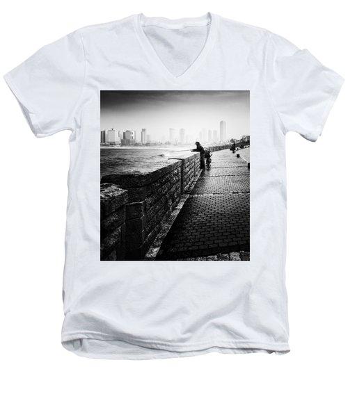 Jaffa Port Men's V-Neck T-Shirt by Hayato Matsumoto
