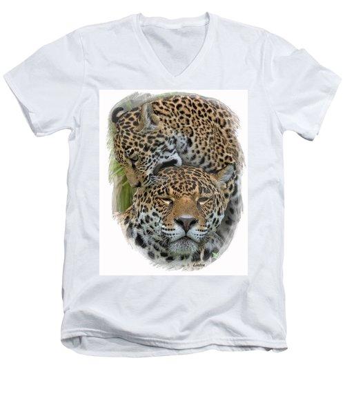 Jaguar Affection Men's V-Neck T-Shirt