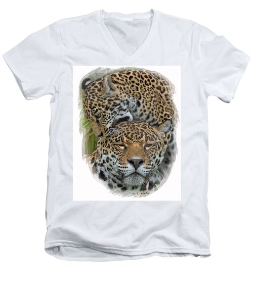 Jaguar Affection Men's V-Neck T-Shirt