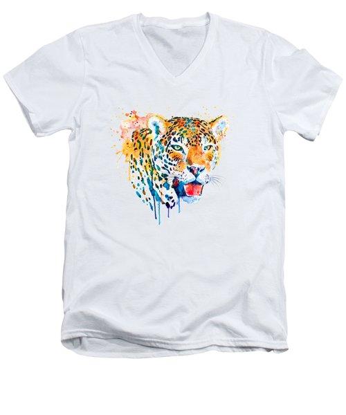Jaguar Head Men's V-Neck T-Shirt