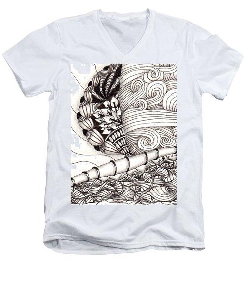 Jamaican Dreams Men's V-Neck T-Shirt by Jan Steinle