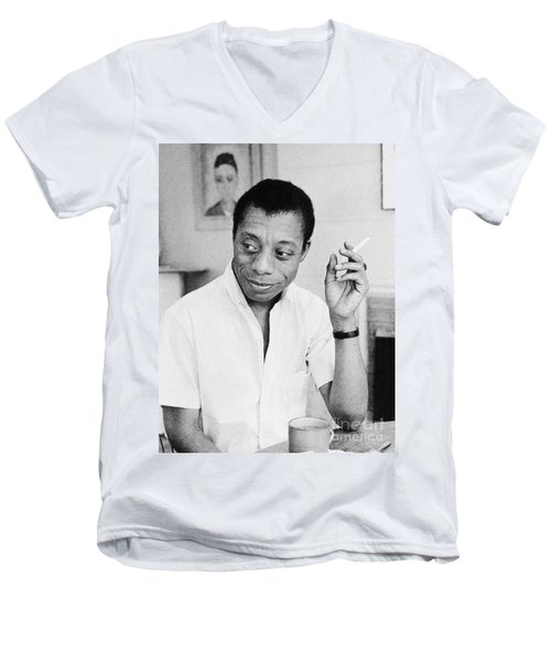 James Baldwin (1924-1987) Men's V-Neck T-Shirt