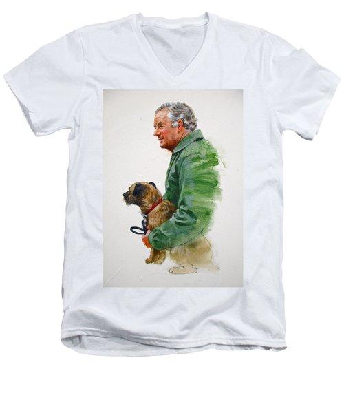 James Herriot And Bodie Men's V-Neck T-Shirt