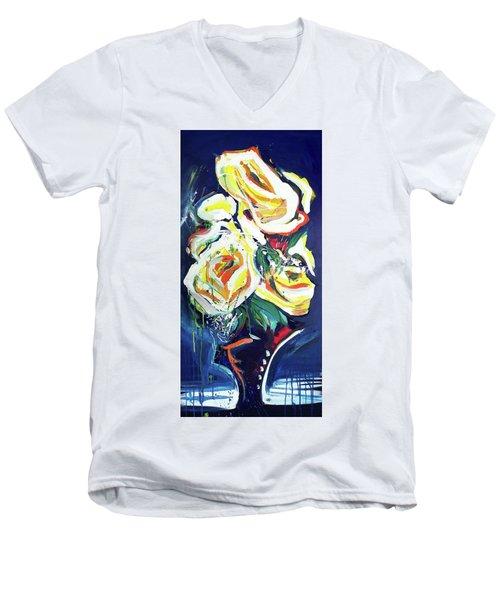 Janes Roses II Men's V-Neck T-Shirt