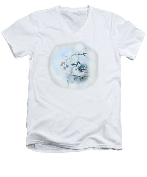 January Bluejay  Men's V-Neck T-Shirt