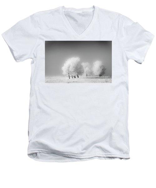 January Frost Men's V-Neck T-Shirt by Dan Jurak