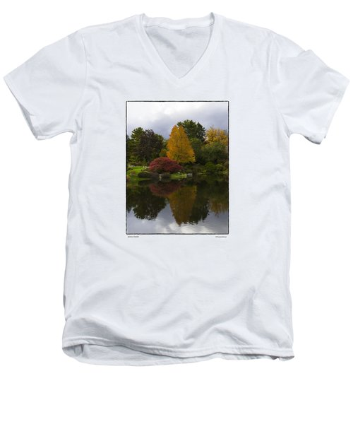Men's V-Neck T-Shirt featuring the photograph Japanese Garden by R Thomas Berner