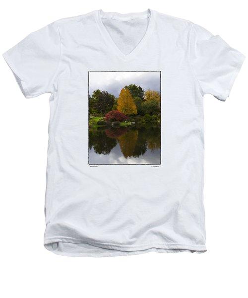 Japanese Garden Men's V-Neck T-Shirt by R Thomas Berner