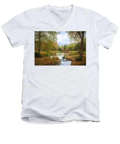 Japanese Garden View Men's V-Neck T-Shirt