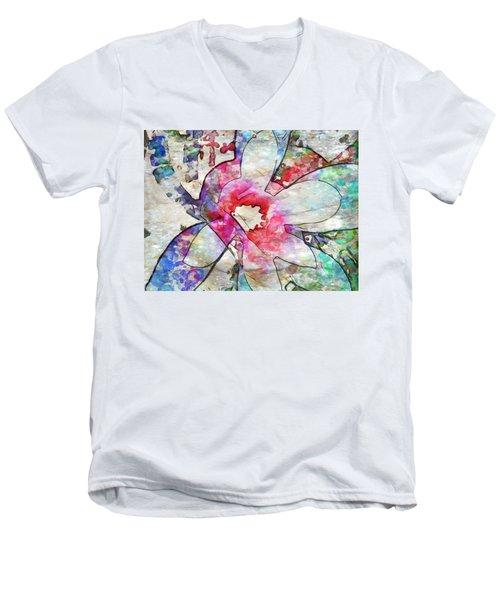 Japanese Magnolia  Men's V-Neck T-Shirt