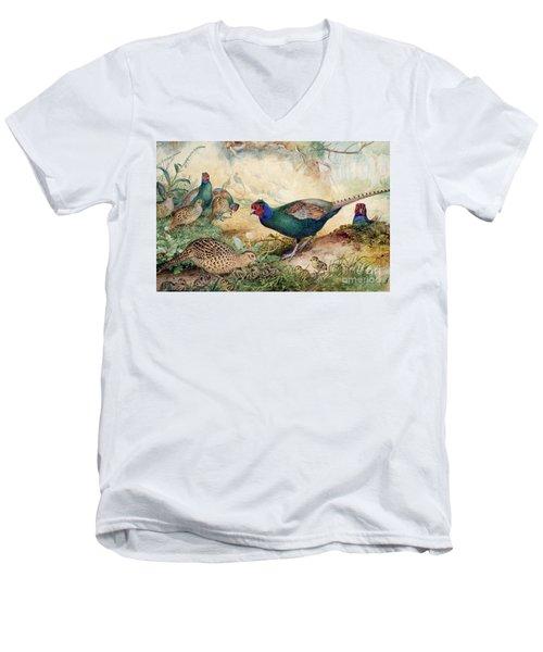 Japanese Pheasants Men's V-Neck T-Shirt