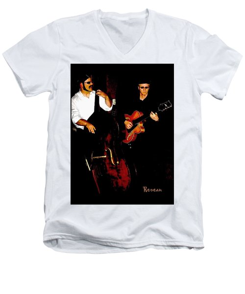 Jazz Musicians Men's V-Neck T-Shirt by Sadie Reneau