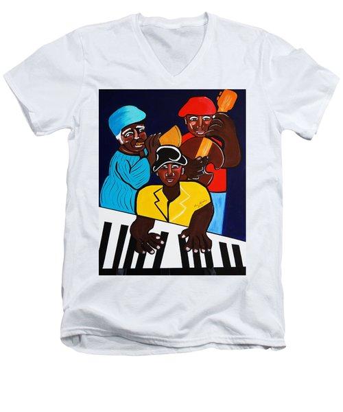 Jazz Sunshine Band Men's V-Neck T-Shirt