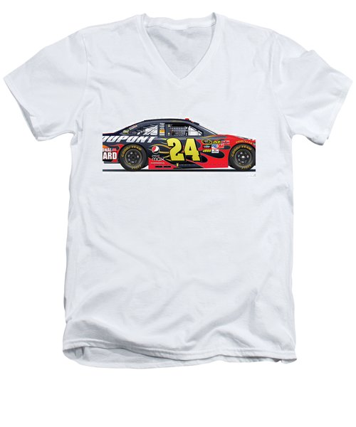 Jeff Gordon Nascar Image Men's V-Neck T-Shirt