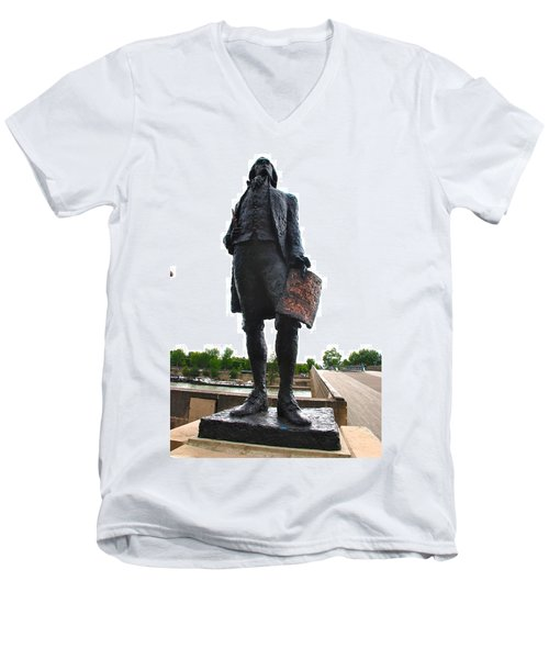 Jefferson In Paris Men's V-Neck T-Shirt