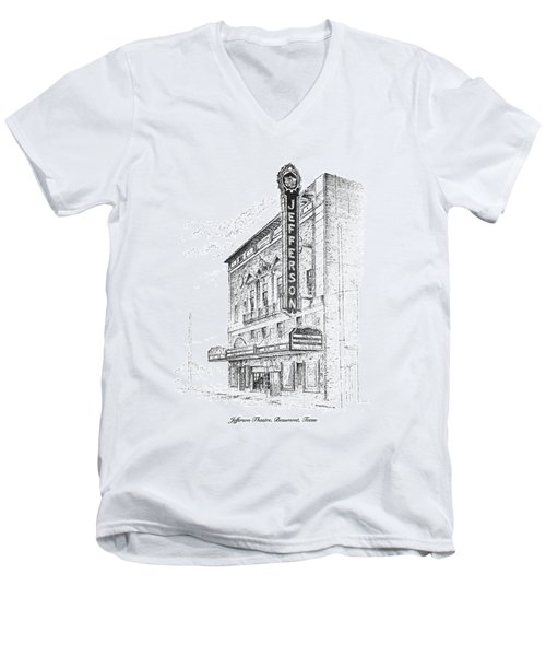 Jefferson Theatre Men's V-Neck T-Shirt