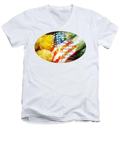 Jefferson's Farm Men's V-Neck T-Shirt by Anita Faye