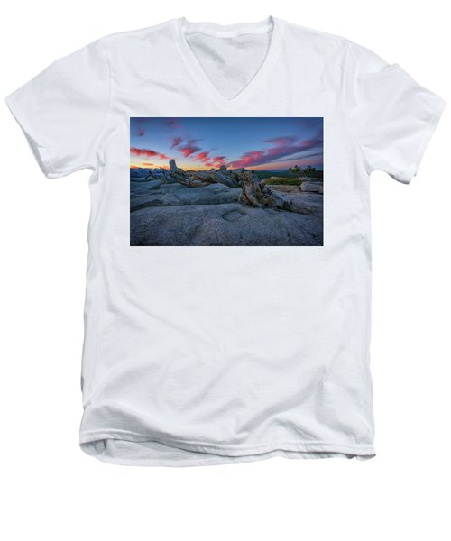 Men's V-Neck T-Shirt featuring the photograph Jeffrey Pine Dawn by Rick Berk