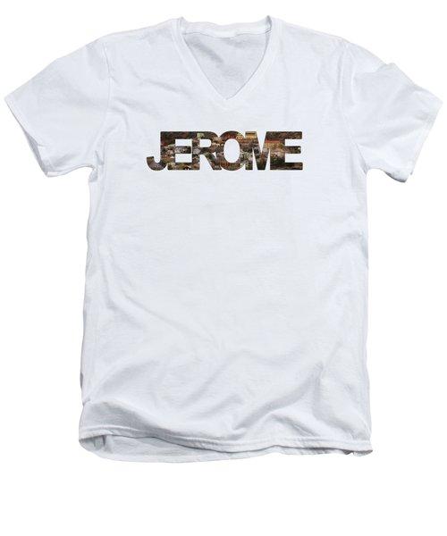Jerome Men's V-Neck T-Shirt by Priscilla Burgers